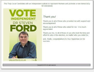 Steven Ford, Prospective Parliamentary Candidate