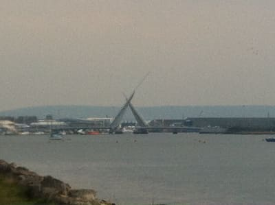 The new Twin Sails bridge - Poole Harbour